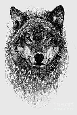 Digital Art - Wolf by Michael Volpicelli