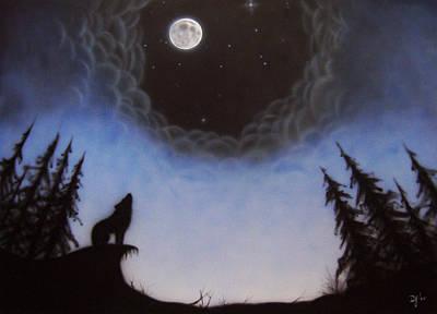 Wolf Moon Art Print by Devaron Jeffery