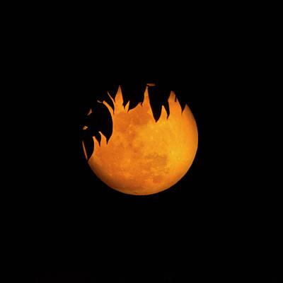 Full Moon Photograph - Wolf Moon by Mark Andrew Thomas