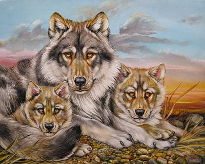 Painting - Wolf Nap by Martin Katon
