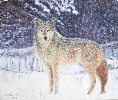 Painting - Wolf Of The North by Glenda Crigger