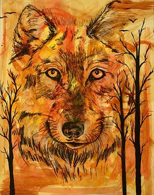 Wolf Of The Woods Art Print