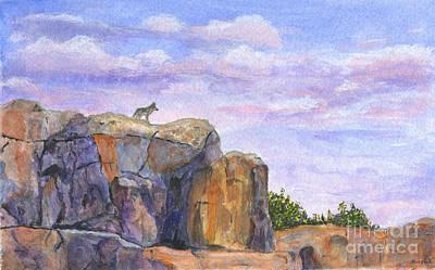 Wolf On The Ridge Art Print