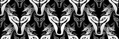 Digital Art - Wolf Pack by Barbara Moignard
