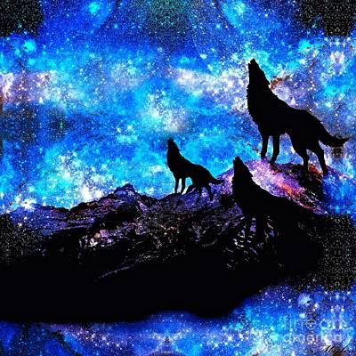 Painting - Wolf Pack by Saundra Myles
