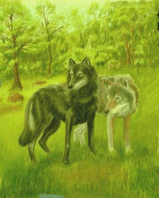 Painting - Wolf Pair by Ruth Seal