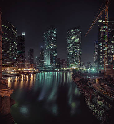 Art Print featuring the photograph Wolf Point Night by Nisah Cheatham
