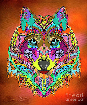 Digital Art - Wolf Pop Art Culture by Melissa Messick