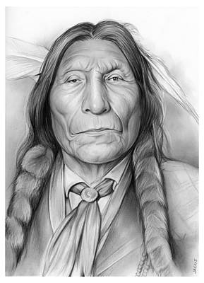 Landmark Drawing - Wolf Robe by Greg Joens