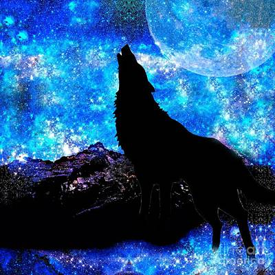 Painting - Wolf by Saundra Myles