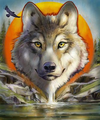 Painting - Wolf Spirit by Arie Van der Wijst