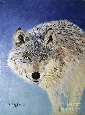 Painting - Wolf Study by Stanton Allaben