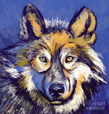 Painting - Wolf by Tim Gilliland