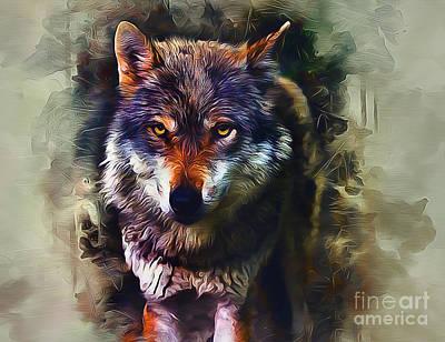 Digital Art - Wolf Timber by Ian Mitchell