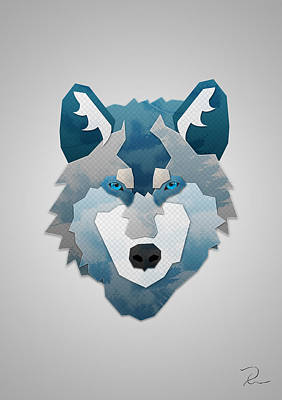 Digital Art - Wolf Tracrect by R Across