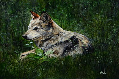 Painting - Wolf by Vicky Path