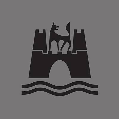 Wolfburg Logo Art Print by Ed Jackson