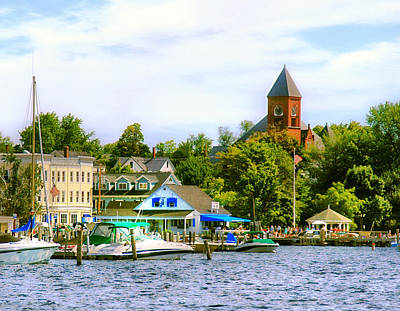 Photograph - Wolfeboro Skyline by WolfeboroGifts Galleries