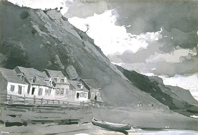 Canoe Painting - Wolfe's Cove Quebec by Winslow Homer