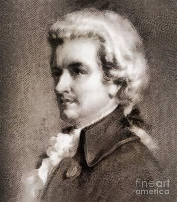 Wolfgang Amadeus Mozart, Composer Art Print by John Springfield