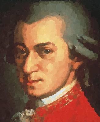 Painting - Wolfgang Amadeus Mozart by Samuel Majcen