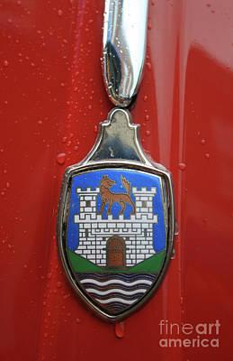 Photograph - Volkswagen Wolfsburg Emblem by Tony Baca