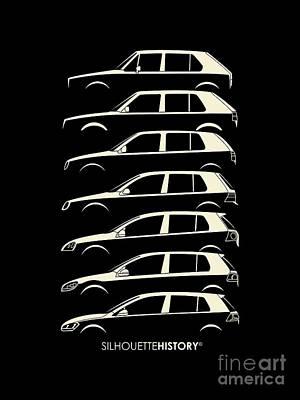 Hatch Digital Art - Wolfsburger Hatch Five Silhouettehistory by Gabor Vida