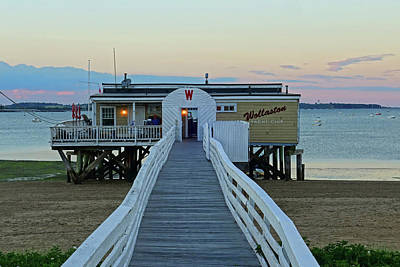 Photograph - Wollaston Beach Yacht Club Pier Quincy Ma by Toby McGuire