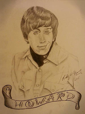 Drawing - Wolowitz by Ricky Haug
