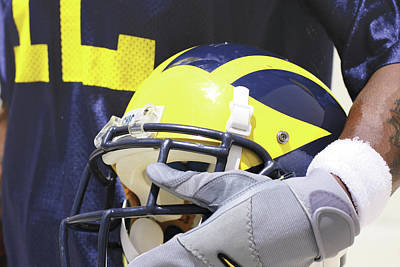 Photograph - Wolverine Cradles Helmet by Michigan Helmet