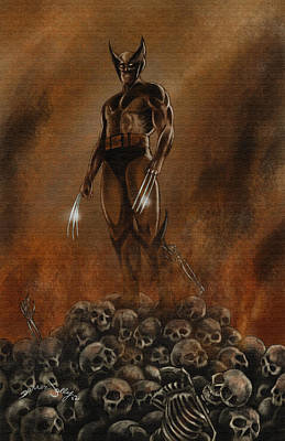 Xmen Painting - Wolverine by Darren Jolly