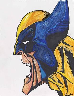 Wolverine Drawing - Wolverine by Davis Elliott