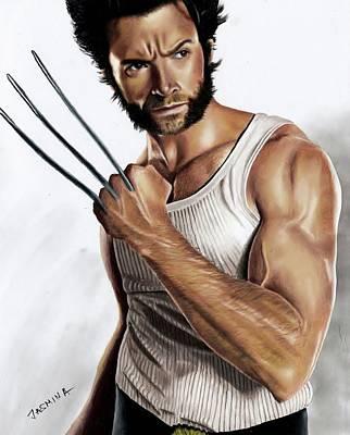 Drawing - Wolverine Fanart by Jasmina Susak