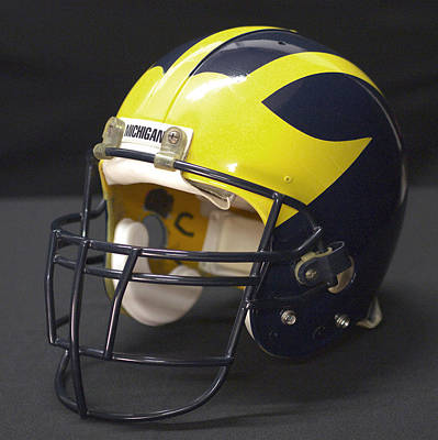 Photograph - Wolverine Helmet From The 1990s by Michigan Helmet