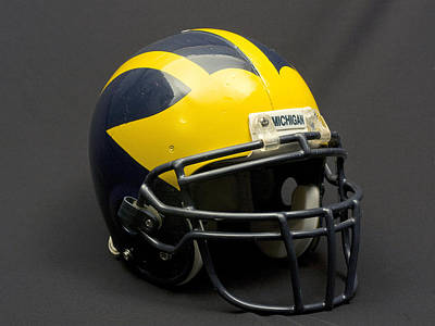 Photograph - Wolverine Helmet Of The 2000s Era by Michigan Helmet
