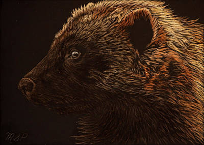Painting - Wolverine by Margaret Sarah Pardy