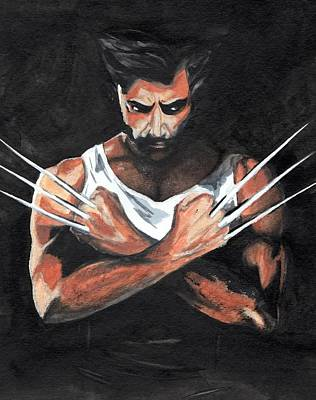 Claw Painting - Wolverine by Pet Serrano