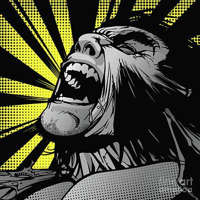 Wolverine Digital Art - wolverine-POP01 by Bobbi Freelance