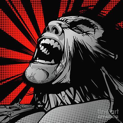 Wolverine Digital Art - wolverine-POP02 by Bobbi Freelance