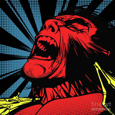 Wolverine Digital Art - wolverine-POP04 by Bobbi Freelance