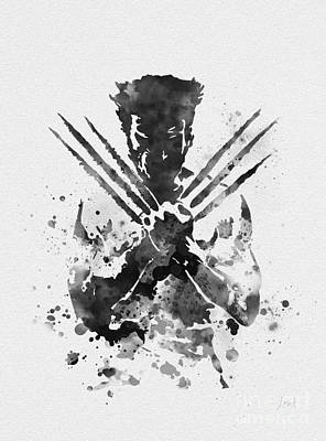Splatter Mixed Media - Wolverine by Rebecca Jenkins