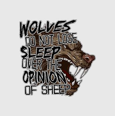Opinions Digital Art - Wolves And Sheep by Michelle Murphy