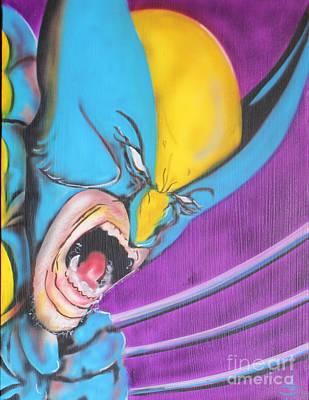 Xmen Painting - Wolvie by John Sodja