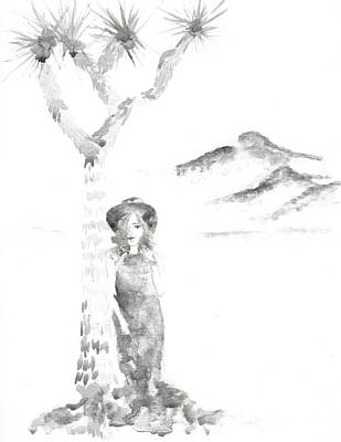 Woman And A Joshua Tree Original