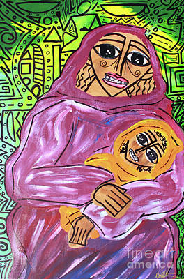 Painting - Woman And Child by Odalo Wasikhongo