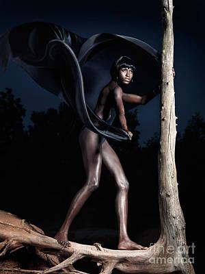 Woman And Dead Tree Art Print by Oleksiy Maksymenko