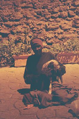 Photograph - Woman And Dog by David Cardona