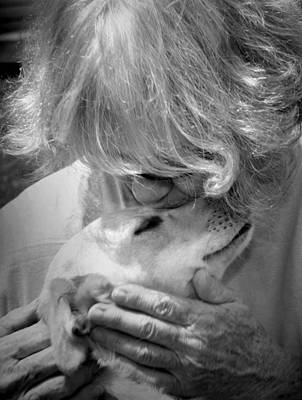Photograph - Woman And Dog by Kelly Hazel