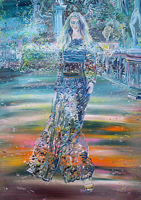 Painting - Woman And Garden by Fabrizio Cassetta