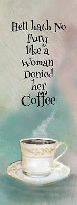 Digital Art - Woman And Her Coffee by Mary Timman